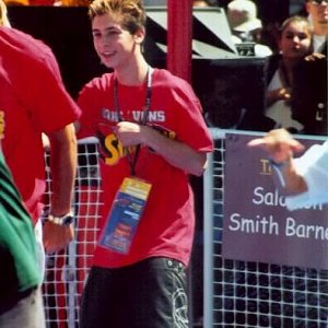 Justin Berfield at Shaquille O'Neal's Shaqtacular event, September 15, 2001