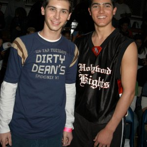 Justin Berfield at Hollywood Knights Charity Basketball Game