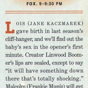 Unknown magazine, Season 5 preview, October (?) 2003