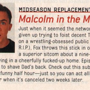 Malcolm in the Middle review, unknown magazine, early 2000