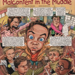Malcolm in the Middle Cartoon - MAD Magazine Page 1