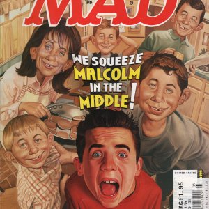 Malcolm in the Middle Cartoon - MAD Magazine Cover by Roberto Parada