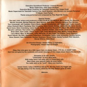 Music from Malcolm in the Middle - Soundtrack - CD - Booklet Back