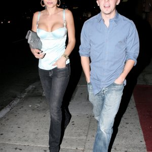 Frankie Muniz and Elycia Marie Outside Hyde Nightclub