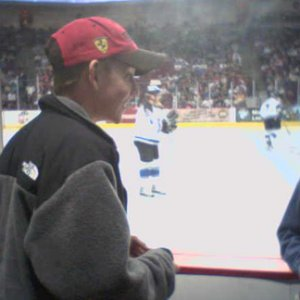 Erik Per Sullivan snapped at an ice hockey match, 2006