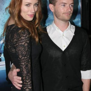 Chris with Arielle Vandenburg at the Skyline premiere