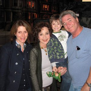 Linwood Boomer with cast members of his new sitcom ''The Karenskys""