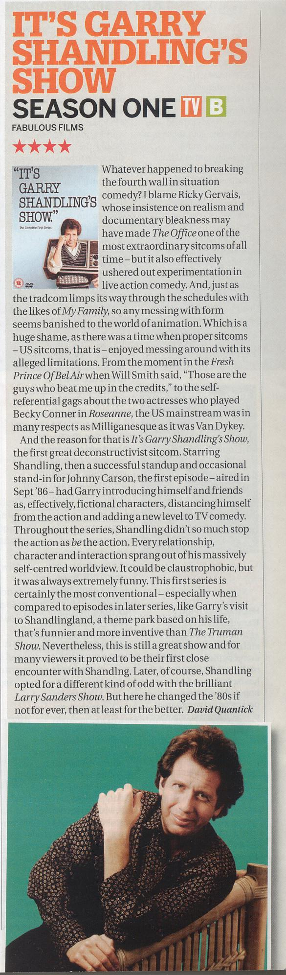 Garry Shandling's Show - review from Uncut magazine