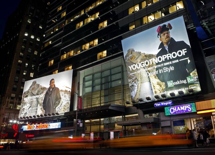 Bryan Cranston - Breaking Bad - Time Square Billboard