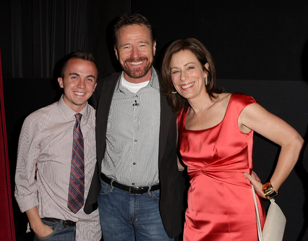 Frankie, Jane and Bryan at Salute to TV Dads