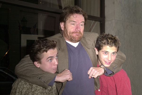 Frankie Muniz, Bryan Cranston and Justin Berfield at 2001 ...