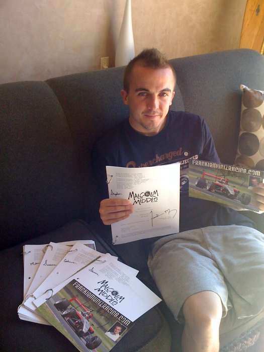 Frankie Muniz Sending Out Contest Winner Scripts