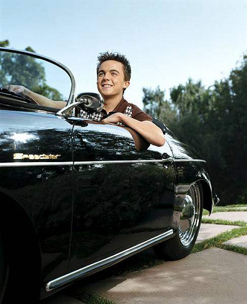Frankie Muniz behind the wheel of his Porsche 356 Speedster