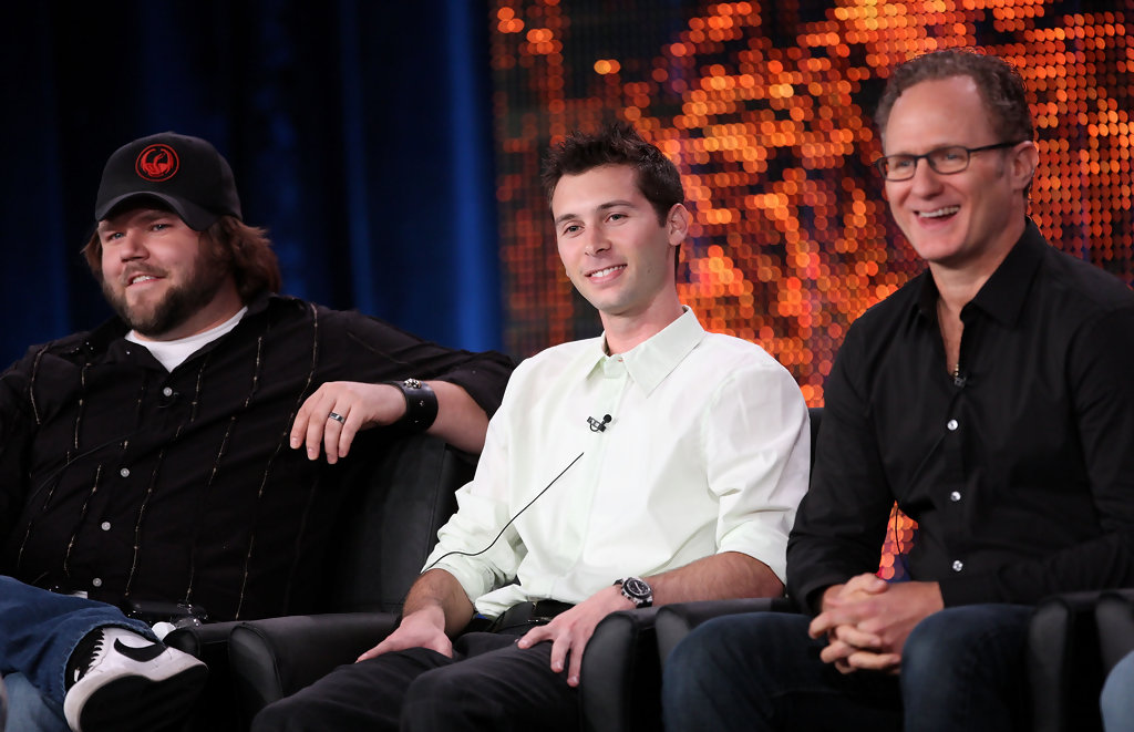 Tyler Labine, Justin Berfield and Todd Holland speak onstage at the FOX 'Sons Of Tucson' portion of the 2010 Winter TCA Tour day 3