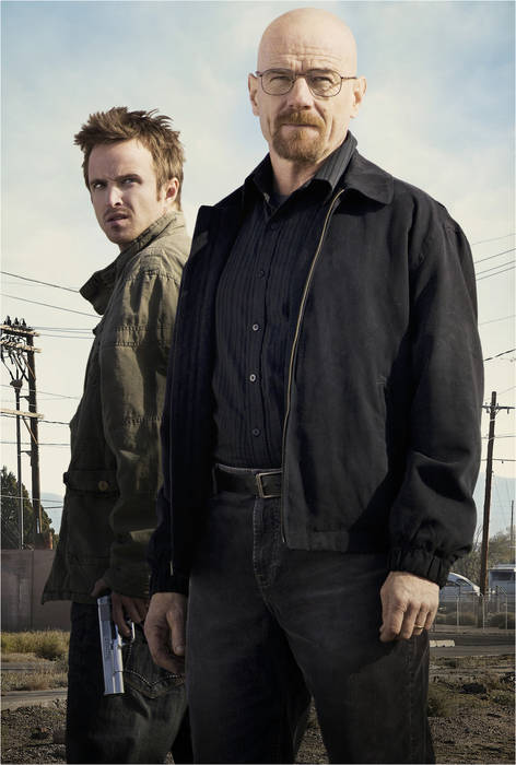 Bryan Cranston as Walter White and Aaron Paul as Jesse Pinkman, Breaking Bad