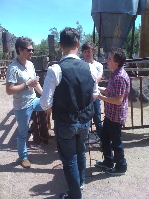Frankie Muniz and Hanson at Greasewood Flat, Arizona