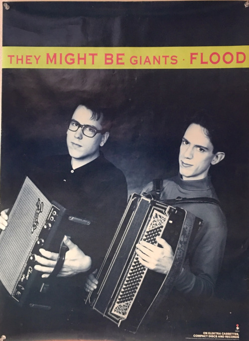 'They Might Be Giants' poster for their album 'Flood'