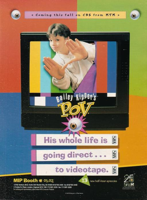 "Magazine advert for ""Bailey Kipper's P.O.V."" (1996)"