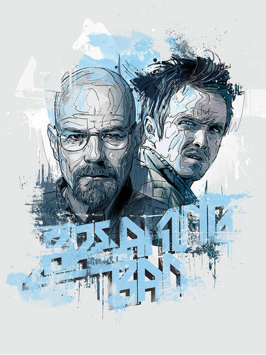 Bryan Cranston and Aaron Paul in 'Breaking Bad' by Andre Pessel