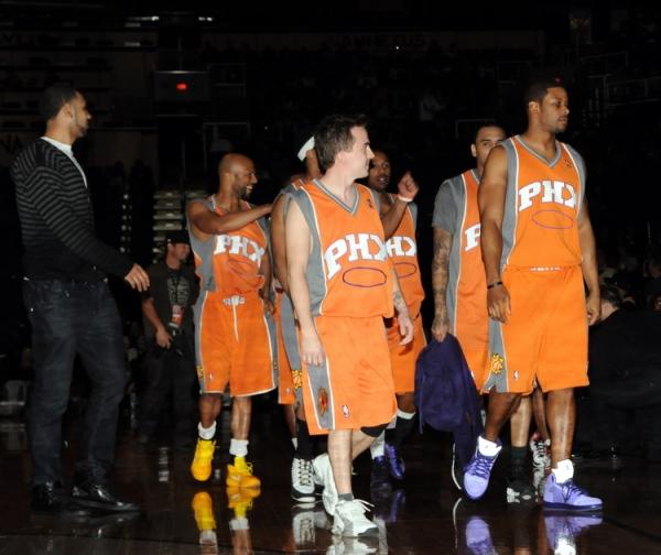 Frankie at Phoenix Suns Celebrity Shootout 2011