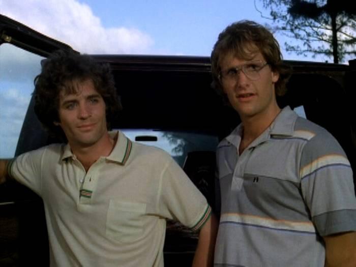 Linwood Boomer and Jeff Daniels in Hawaii Five-O
