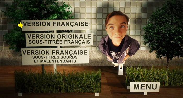 French Season 1 DVD menu