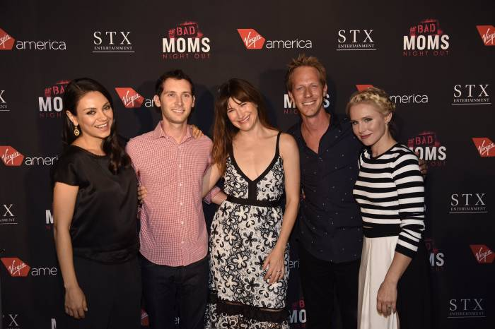 Justin Berfield and Jason Felts at the 'Bad Moms' movie premiere party