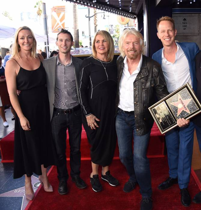 Richard Branson receives Star on the Hollywood Walk of Fame