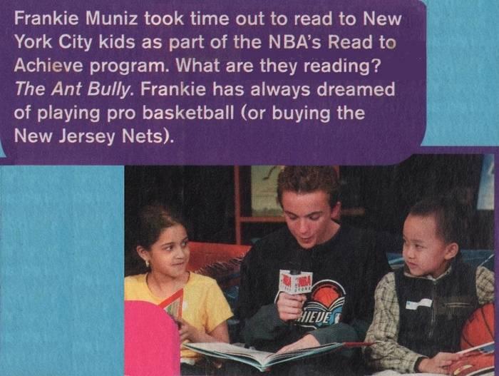 Frankie Muniz at NBA All-Star Read to Achieve Celebration