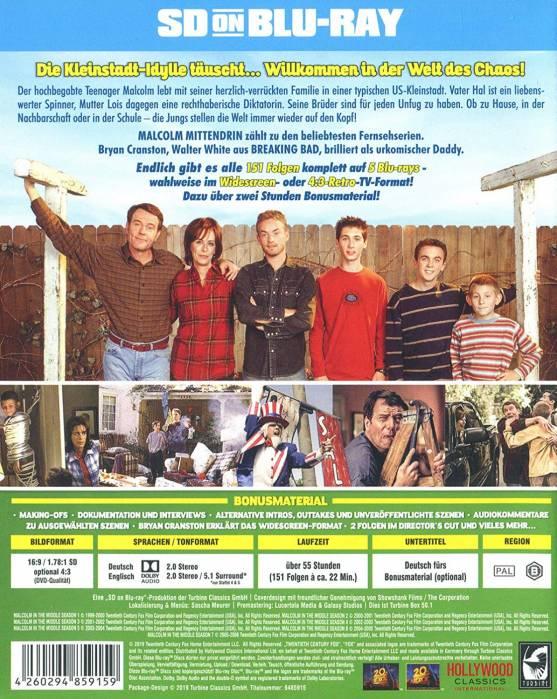 German Season 1-7 Blu-ray sleeve - back