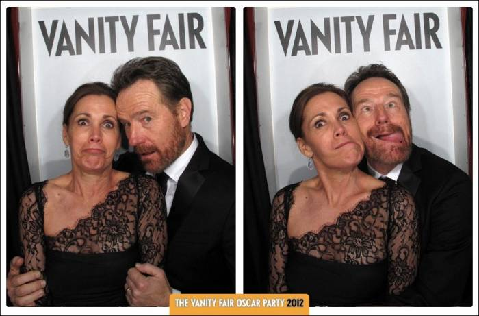 Bryan Cranston and wife Robin Dearden at the 2012 Vanity Fair Oscar Party