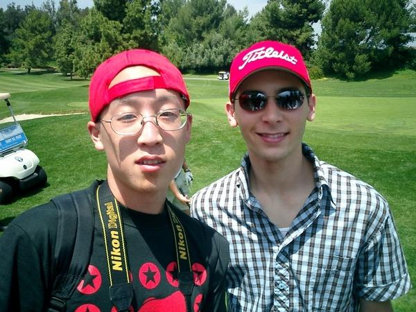 Justin Berfield playing in some unknown golf tournament