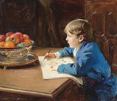 'The Young Artist' by Philip Alexius de Laszlo (1919)