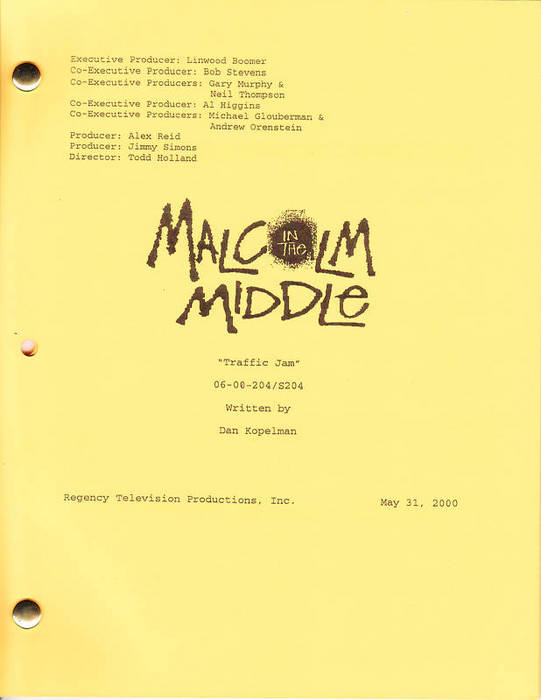 Cover of 2x01 Traffic Jam script