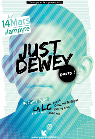 Dewey Party Poster