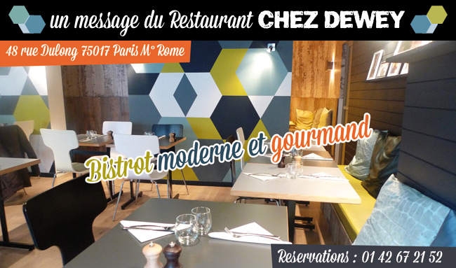 'Chez Dewey' bistro in Paris, France
