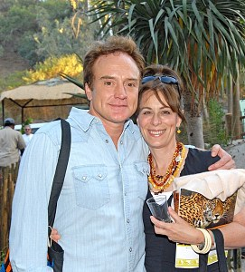 Jane Kaczmarek (Lois) and husband Bradley Whitford at Beastly Ball