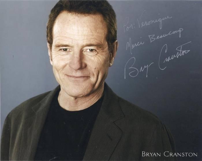 Autographed official Bryan Cranston portrait