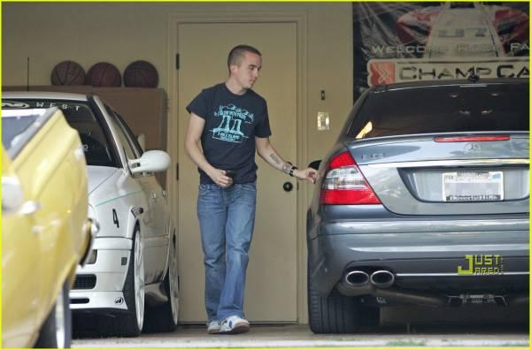 Frankie Muniz in his Garage