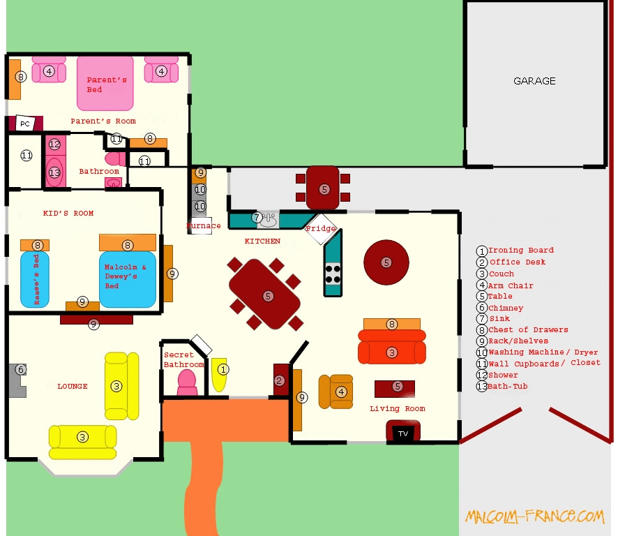 The Wilkerson House Floor Plan Malcolm In The Middle Vc