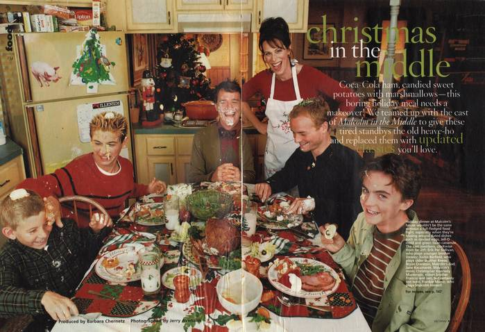 Malcolm In The Middle Christmas.Behind The Scenes Family Christmas Dinner Malcolm In The