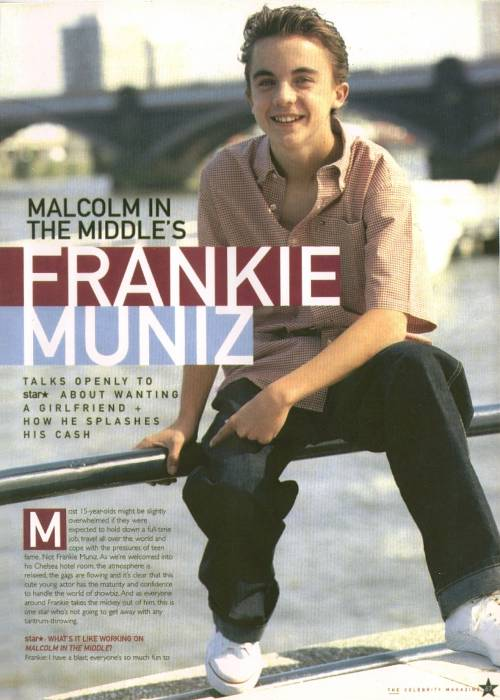 "Frankie Muniz, British ""Star"" magazine, June 2001"