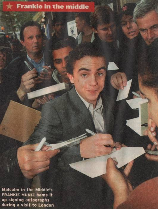 "Frankie Muniz, British ""Star"" magazine, unknown date"