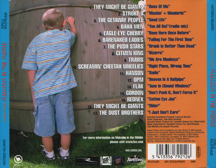 Music from Malcolm in the Middle - Soundtrack - CD - Back