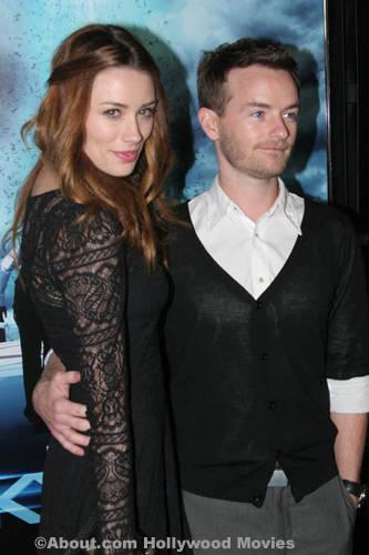 Chris with Arielle Vandenburg at the Skyline premiere