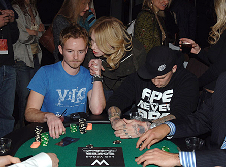 Chris Masterson, Laura Prepon and Benji Madden - 2006 Park City - W Lounge Celebrity Poker Tournament - Jan. 2006