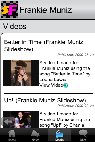 Frankie Muniz SupaFan iPhone App
