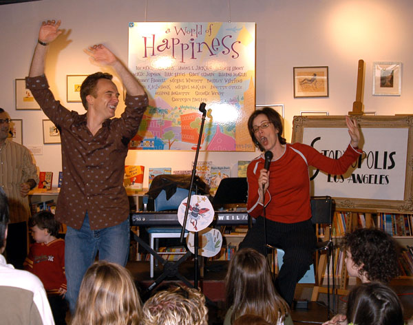 Jane and Brad at CD Launch Party For A World Of Happiness 3 April 2004