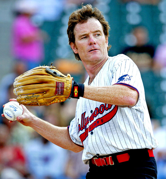 Bryan Cranston plays in Hollywood AllStars Softball Game 2004