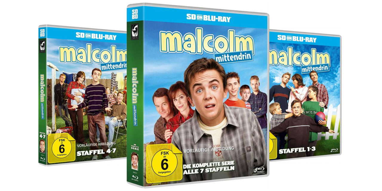 German Blu-rays of Malcolm in the Middle (Malcolm Mittendrin) released in Sept 2019!